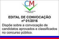 Edital de Convocação 01/2016
