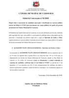 Edital de Convocação 02/2018