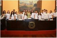 Presidente deu posse a parlamentares da Câmara Jovem